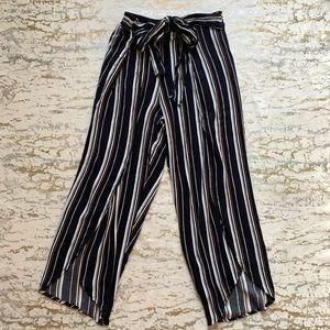 Stripped Split Beach Pants